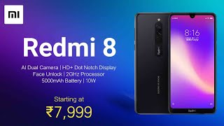 Redmi 8 Launch Date & Price in India | Official First Look | Confirmed Specifications in Hindi