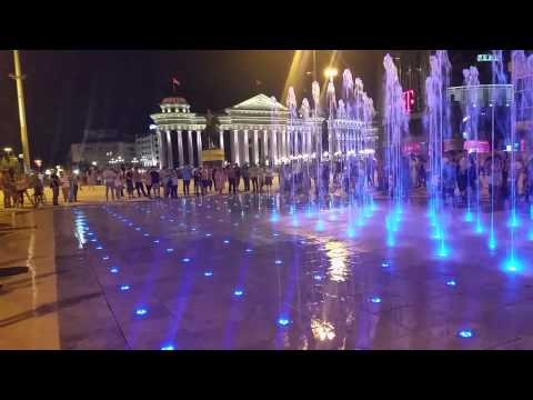 skopje plostad fontana muzicka MATRIX Admiral.com.mk