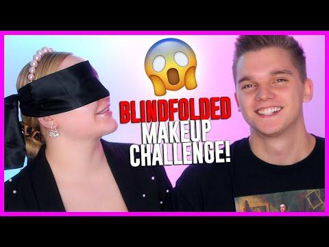 BLINDFOLDED Online Makeup Challenge With My Fiance! | NikkieTutorials