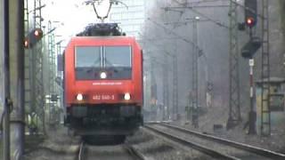 BR143 Dostos - BR189 gemischter Güterzug - Re482 Intermodalzug bei Bonn Villich Müldorf