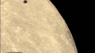 Double ufo -alien ships crossing the moon !?  (the one I like)