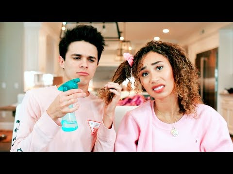 BOYFRIEND  STYLES MY NATURAL CURLY HAIR (FAIL) | MyLifeAsEva