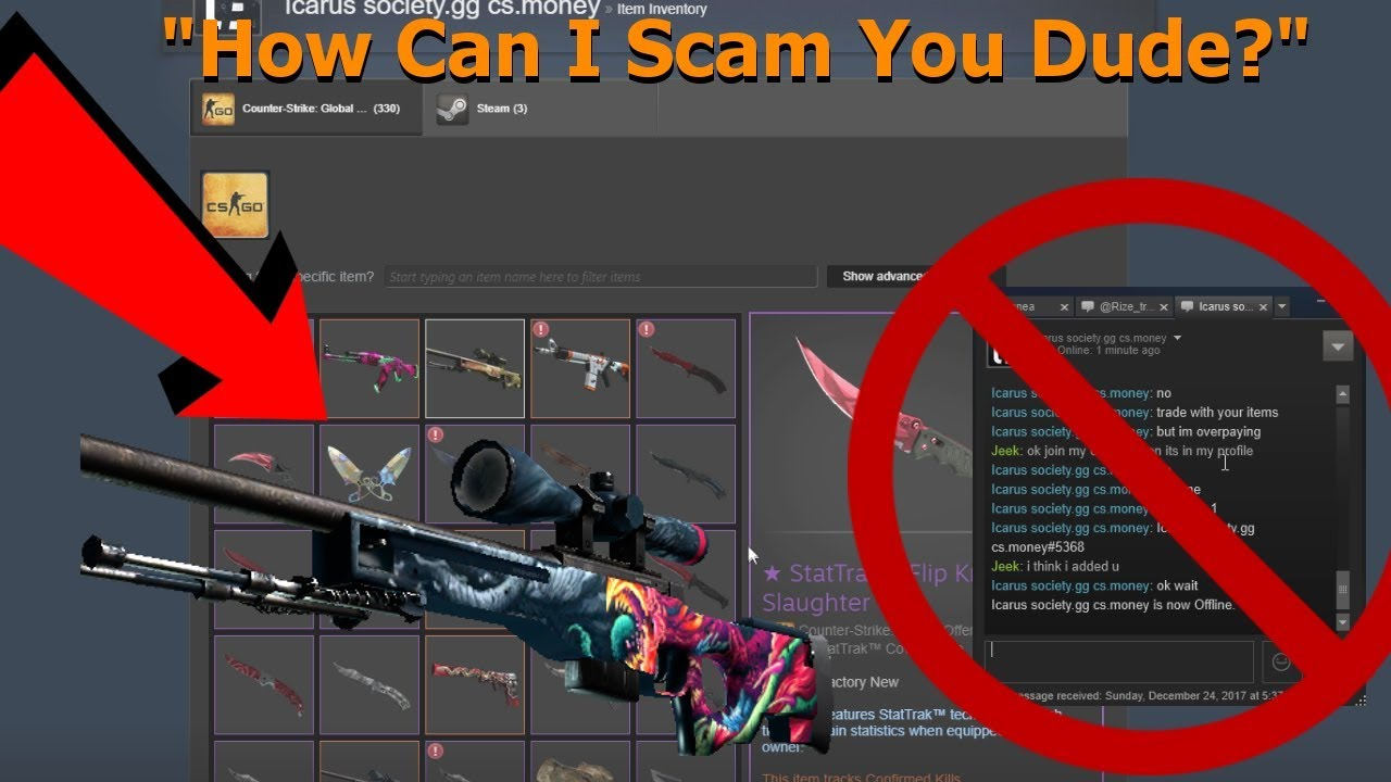 Exposing a CSGO SCAMMER! (HE WAS SO SCARED)