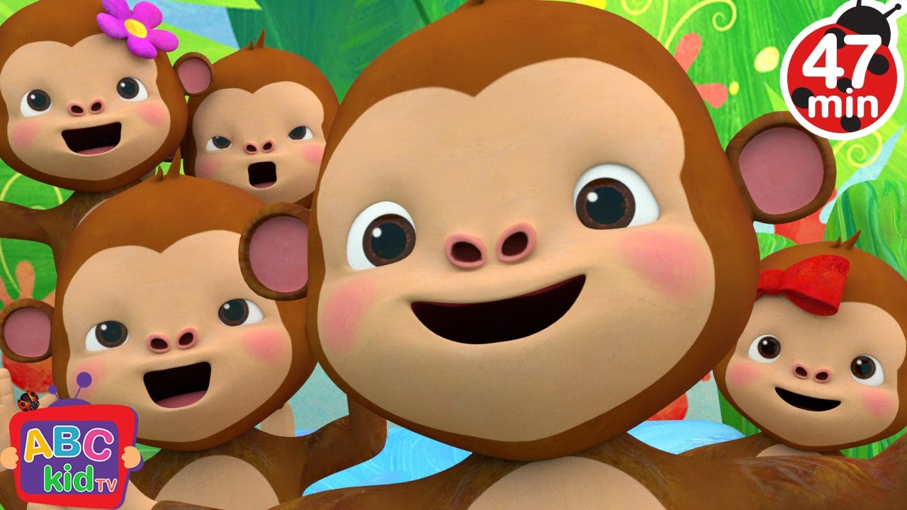 Five Little Monkeys Jumping on the Bed 2 + More Nursery Rhymes & Kids Songs - CoComelon