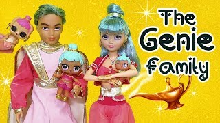 Barbie LOL Families ! The Genie Family and the Color Change Bunny ! Toys and Dolls Fun for Kids