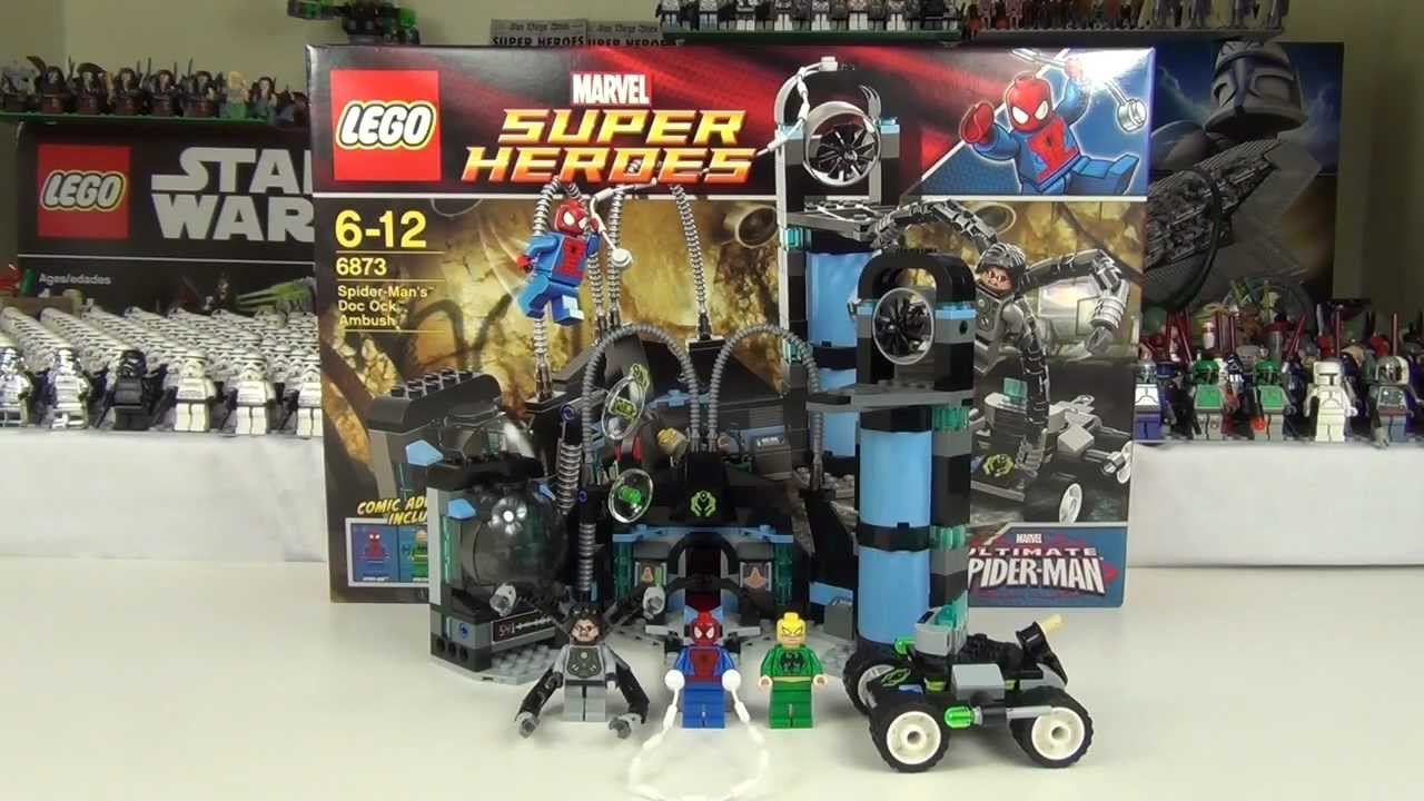 Lego superheroes spider man s dock ock ambush set 6873