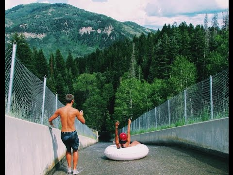 Crazy Tubing Down a Spillway - Silver Lake Flats!