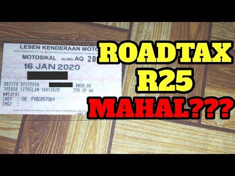 Kos Roadtax Yamaha R25 Youtube
