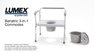 Bariatric 3-in-1 Commodes