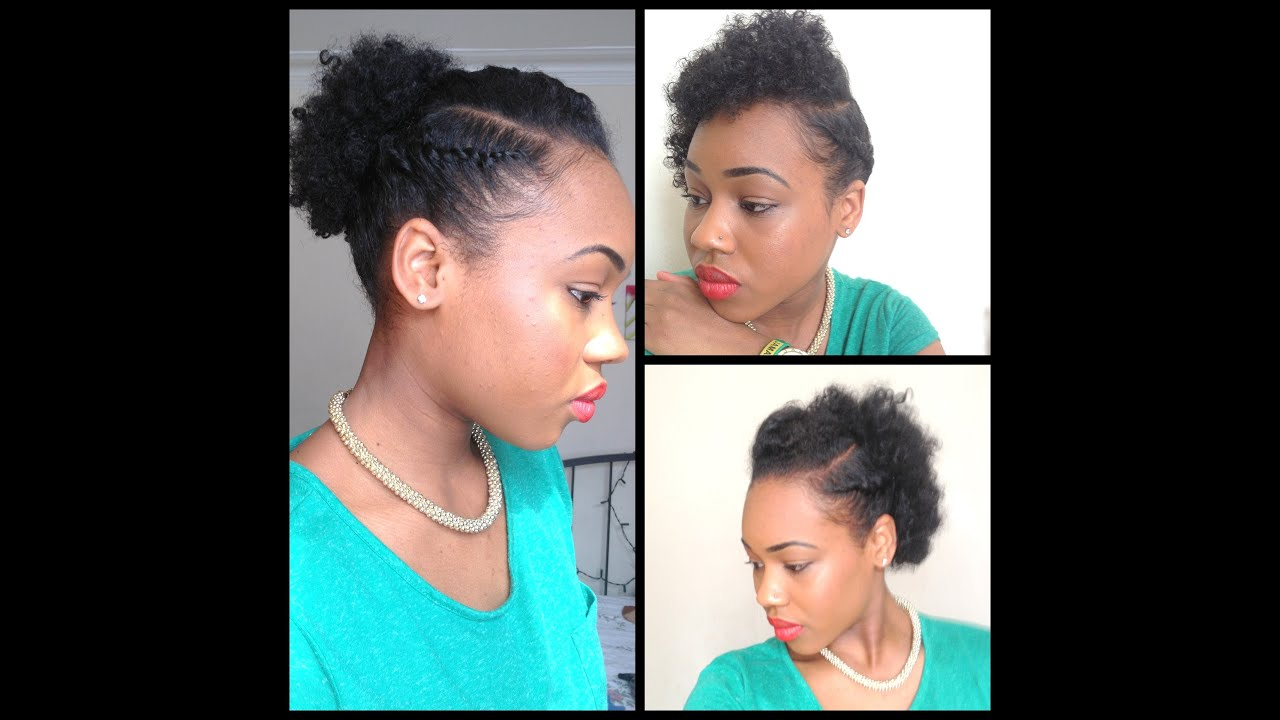 32 3 Quick Easy style for short Natural Hair wash and go 5th day
