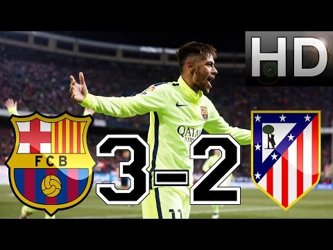 Barcelona vs Atletico Madrid 3-2 All Goals & Highlights EXTENDED 28-1-2015 HD