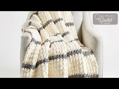 Crochet Pin Stripes Blanket Pattern
