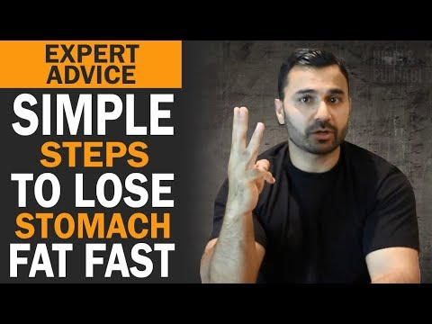 Simple Steps to LOSE STOMACH FAT Fast! (Hindi / Punjabi)