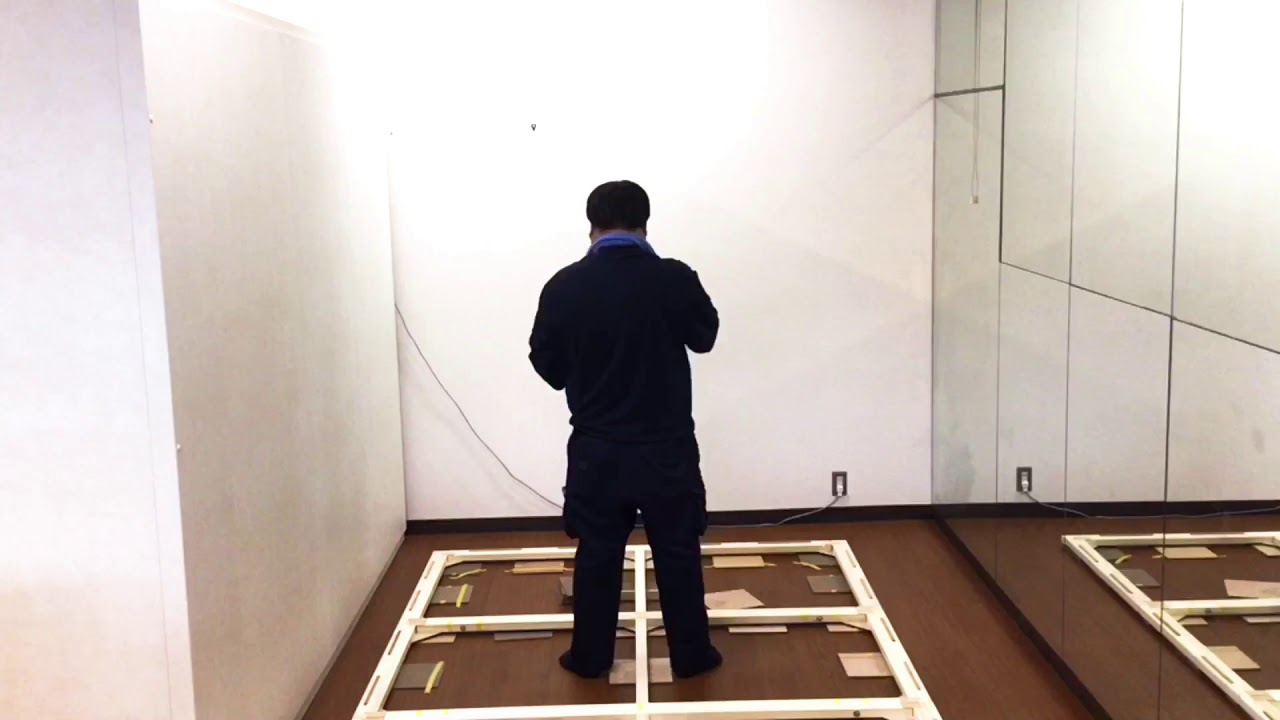 防音室 ヤマハアビテックス組み立て作業