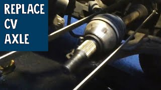 How to replace Cv Axle - Buick Rendezvous