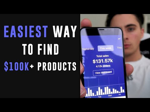 EASIEST Way to Find 6 Figure Products in 2019 | Shopify Dropshipping thumbnail