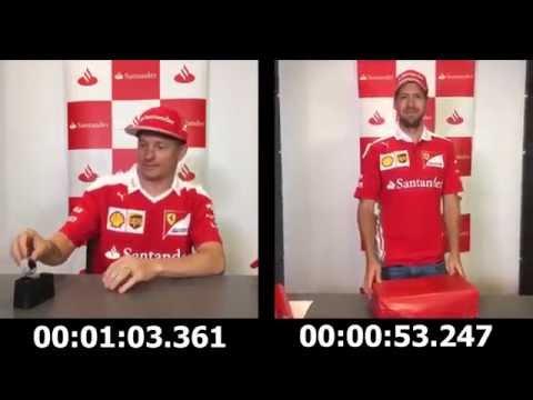 Challenge: Wrap a present in less than one minute - Sebastian Vettel vs Kimi Raikkonen