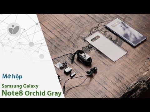 Mở hộp Samsung Galaxy Note8 xám phong lan