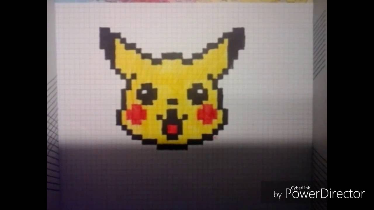 Comment Dessiner Pikachu Pixel Art Youtube