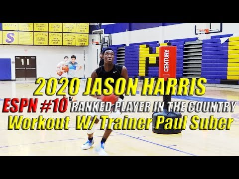2020 Jason Harris ESPN 10 Ranked Player in the Country Workout with Trainer Paul Suber