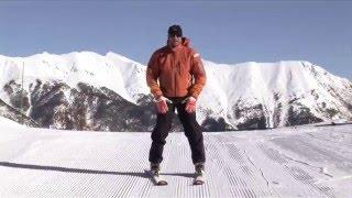 ★Карвинг Лыжи★ Урок 5 Как научиться тормозить на горных лыжах