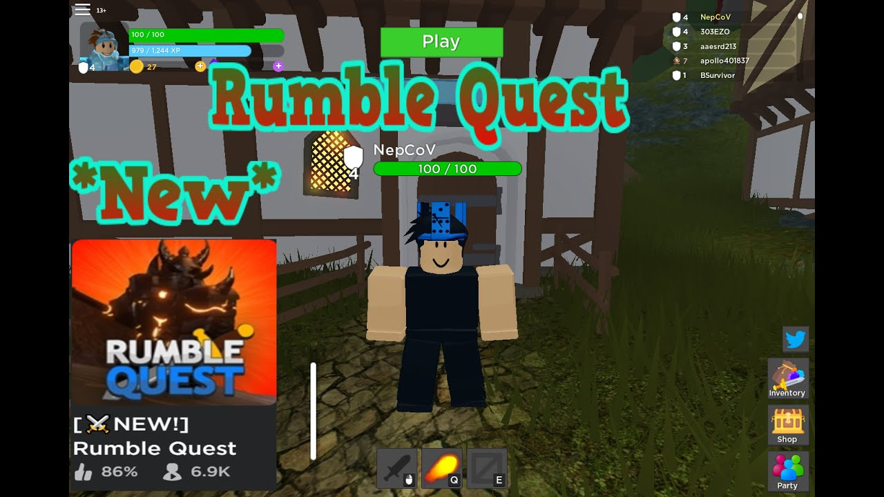 New Rpg Dungeon Crawler Game But Is It Good Roblox Rumble Quest - Rumble Quest New Rpg Game Youtube
