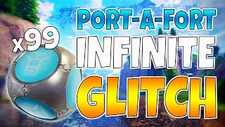 New UNLIMITED Port-a-Fort Glitch in Fortnite! - Fortnite Battle Royale Glitch