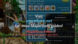 Ayumilove MapleStory MapleSEA Event List 2017 - 12th Anniversary ends on July 25 2017