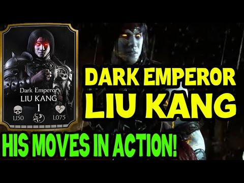 Dark Emperor Liu Kang In MKX Mobile 1.8. Special Attacks, Moves And Stats.