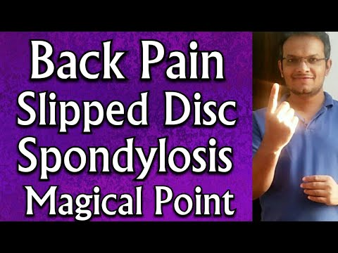 Acupressure Points For LUMBER SPONDYLOSIS || L4 L5 S1 SLIPPED DISC || BACK PAIN Relief – In Hindi