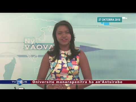 VAOVAO DU 27 OCTOBRE 2018 BY TV PLUS MADAGASCAR