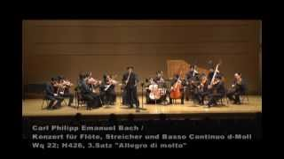 Carl Philipp Emanuel Bach / Flute Concerto in d minor Wq 22, 3rd.mov.