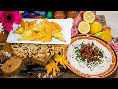 Antonia Lofaso's Crispy Squash Flowers & Whipped Beans with Pork Carnitas - Home & Family