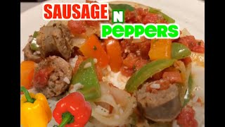 How to make Delicious  Sausage peppers and onions