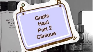 Gratis Haul [Part 2] Clinique Thumbnail