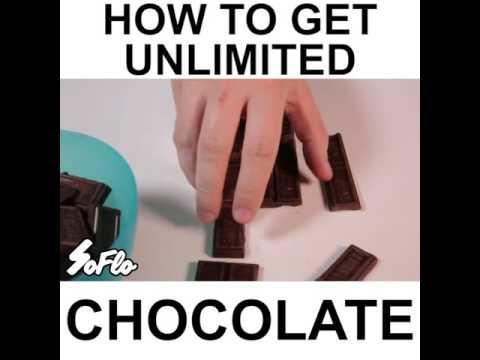 Un joven releva el método para obtener chocolate ilimitado con cinco cortes
