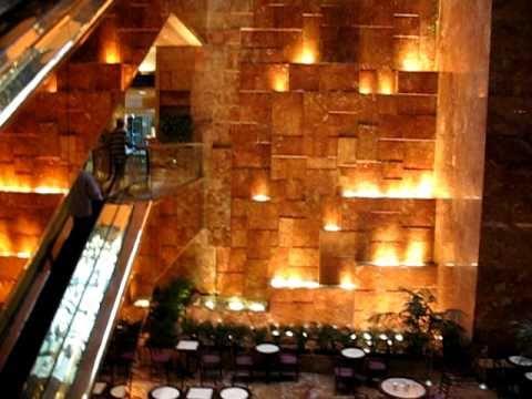 NYC 2008 8 - Inside Trump Tower's lobby - YouTube