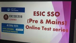 ESIC SSO | Pre & Mains | Online Test series