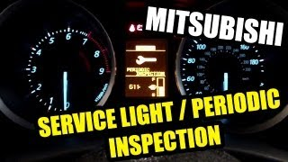 How to change service modes / inspection modes on Mitsubishi cars