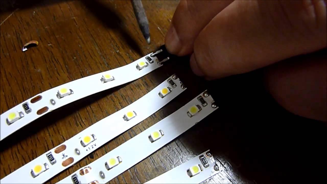 【鉄道模型】自作テープLED室内灯ーブリッジダイオード取り付け , YouTube