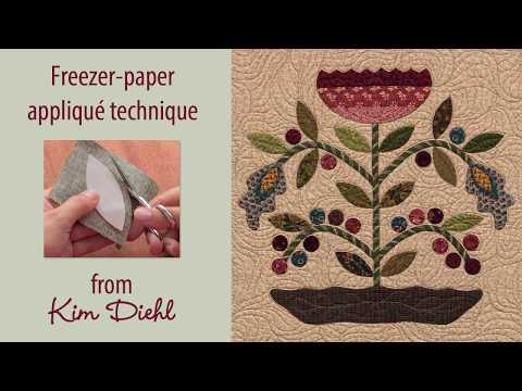 Kim Diehl's freezer-paper applique technique
