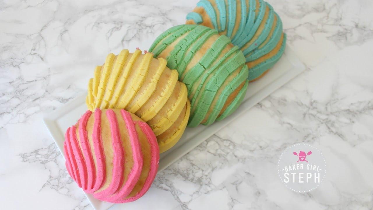 how to make conchas || pan dulce || unicorn concha || mermaid concha