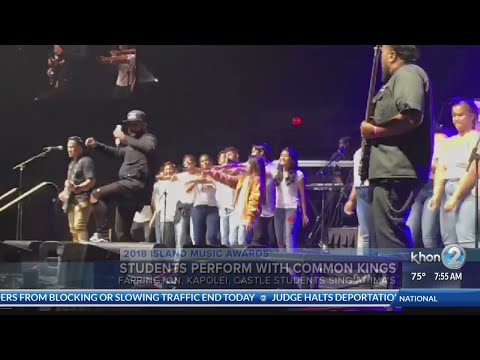 Island Music Awards - High School students perform with Common Kings