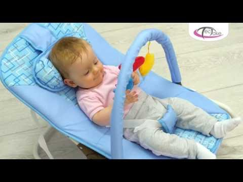 Baby Chair Rocker Red Church Chairs Tectake Bouncer Seat Youtube