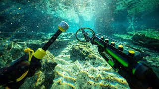 Metal Detecting Underwater for Buried Treasure While Scuba Diving! (Found Money & Diamonds)