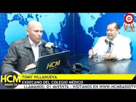 Entrevista al dr. Tomy Villanueva en HCM Radio TV sobre la huelga médica