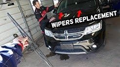 DODGE JOURNEY WINDSHIELD WIPERS REPLACEMENT REMOVAL FIAT FREEMONT
