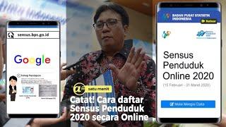 Cara daftar Sensus Penduduk 2020 secara Online