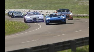 Battle Bugatti Chiron vs Super Cars at Highlands
