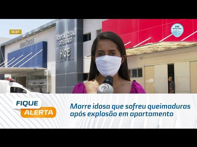 Morre idosa que sofreu queimaduras após explosão em apartamento